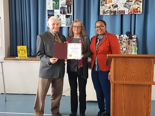 Essential Skills Upgrading (ESU) is honoured and recognized for 35yrs of partnership with Scarborough Bluffs United Church and community involvement.