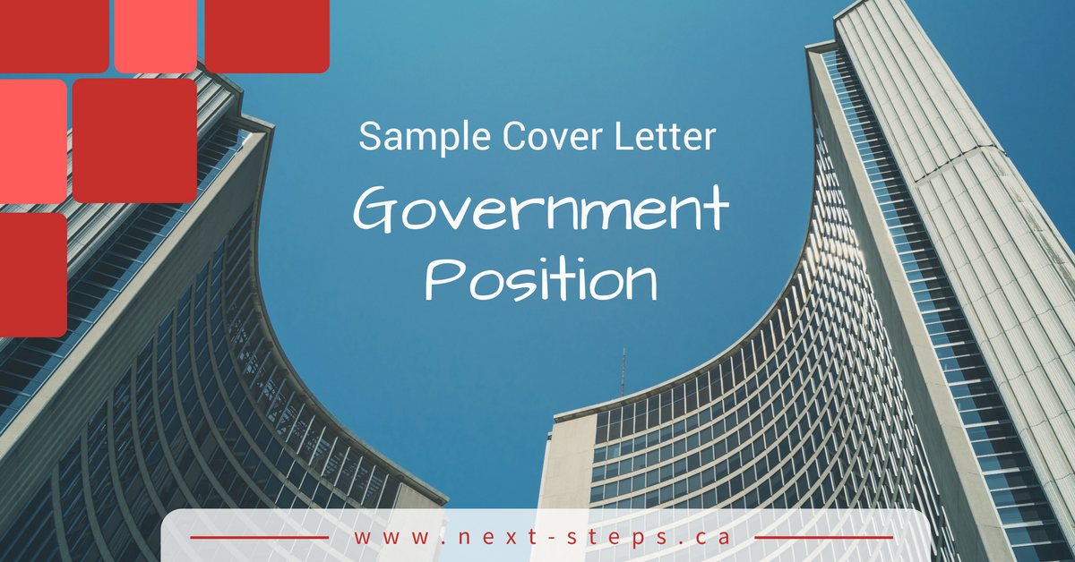 on sample application letter for government position